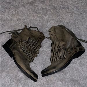 Jeffrey Campbell ruffle boots